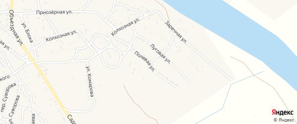 Полевая улица на карте Ахтубинска с номерами домов