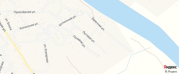 Луговая улица на карте Ахтубинска с номерами домов