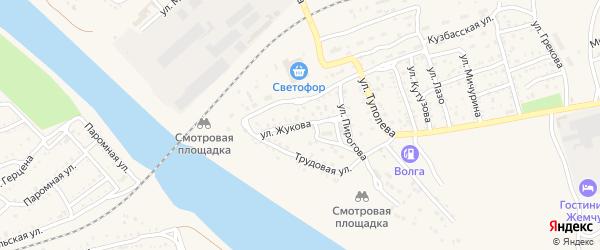 Улица Жукова на карте Ахтубинска с номерами домов