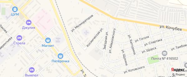 Космическая улица на карте Ахтубинска с номерами домов