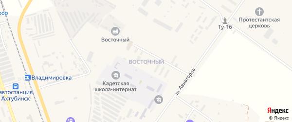 Восточный микрорайон на карте Ахтубинска с номерами домов