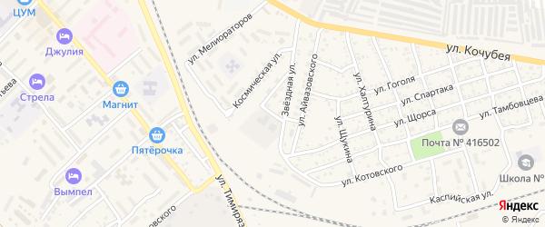 Кооперативная улица на карте Ахтубинска с номерами домов