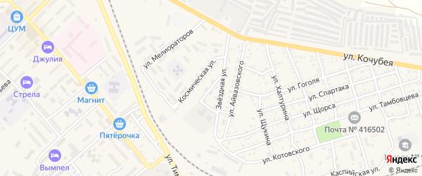 Мелиоративная улица на карте Ахтубинска с номерами домов