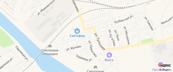Улица Куприна на карте Ахтубинска с номерами домов
