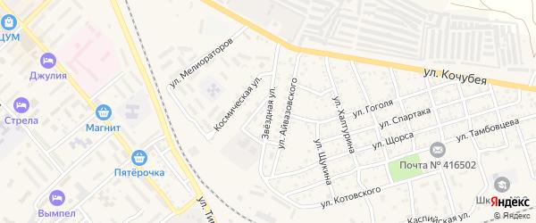 Звездная улица на карте Ахтубинска с номерами домов