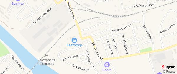 Улица Туполева на карте Ахтубинска с номерами домов