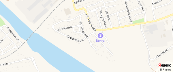 Улица Пирогова на карте Ахтубинска с номерами домов