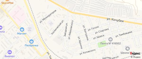 Улица Айвазовского на карте Ахтубинска с номерами домов