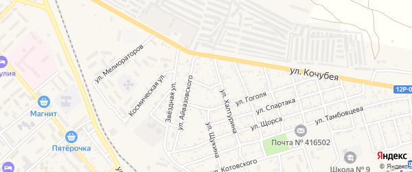 Переулок Халтурина на карте Ахтубинска с номерами домов