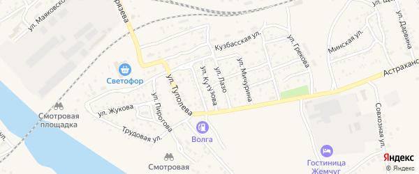 Улица Кутузова на карте Ахтубинска с номерами домов