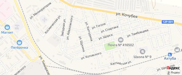 Улица Халтурина на карте Ахтубинска с номерами домов