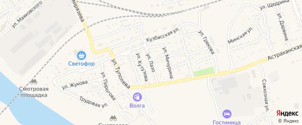 Улица С.Лазо на карте Ахтубинска с номерами домов