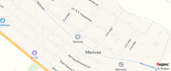Улица М-Х.Вайсерт на карте села Мелчхи Чечни с номерами домов