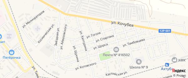 Почтовая улица на карте Ахтубинска с номерами домов