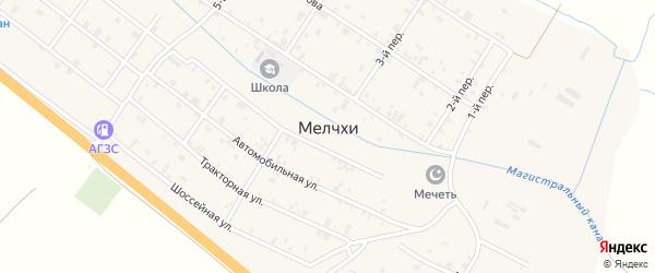 Третий переулок на карте села Мелчхи Чечни с номерами домов