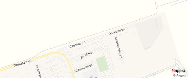 Степная улица на карте поселка Коминтерна Саратовской области с номерами домов