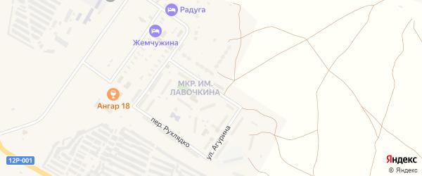 Улица Агурина на карте Ахтубинска с номерами домов