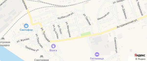 Волжская улица на карте Ахтубинска с номерами домов
