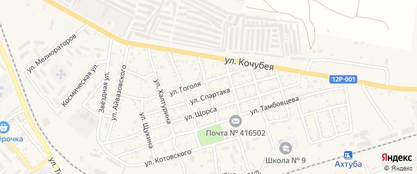 Улица Перова на карте Ахтубинска с номерами домов