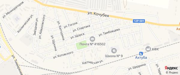 Улица Тамбовцева на карте Ахтубинска с номерами домов