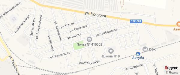 Улица Бебеля на карте Ахтубинска с номерами домов