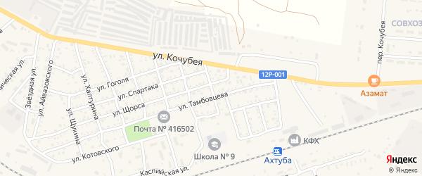 Улица Серова на карте Ахтубинска с номерами домов