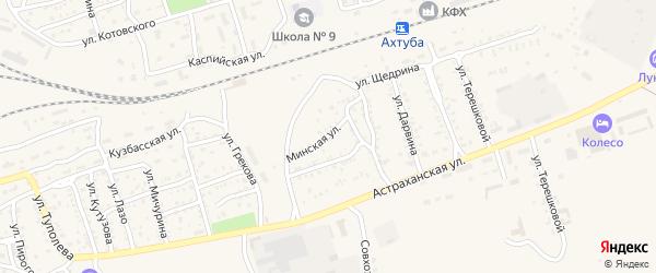 Минская улица на карте Ахтубинска с номерами домов