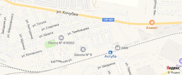 Переулок Серова на карте Ахтубинска с номерами домов