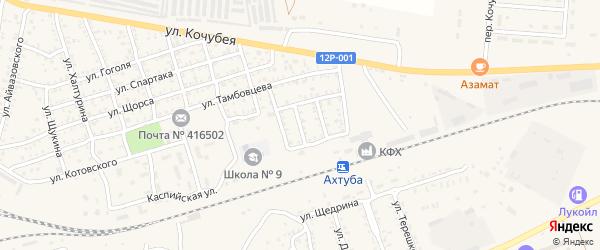 Музыкальная улица на карте Ахтубинска с номерами домов