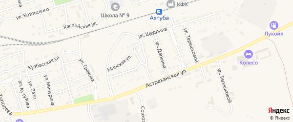 Улица Джамбула на карте Ахтубинска с номерами домов