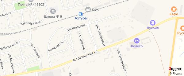 Улица 2-я Дарвина на карте Ахтубинска с номерами домов