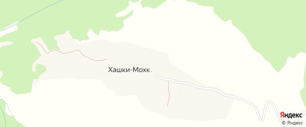 Улица А.А.Кадырова на карте села Хашки-Мохк Чечни с номерами домов