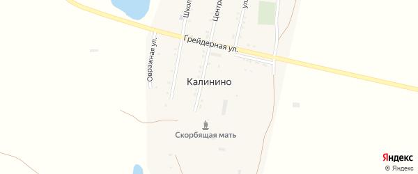 Улица 8 Марта на карте села Калинино Волгоградской области с номерами домов