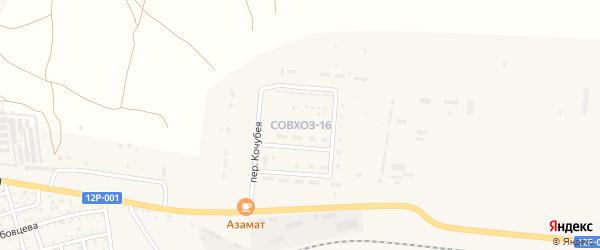 Микрорайон Совхоз-16 на карте Ахтубинска с номерами домов