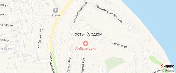 Московская улица на карте села Усть-Курдюма Саратовской области с номерами домов