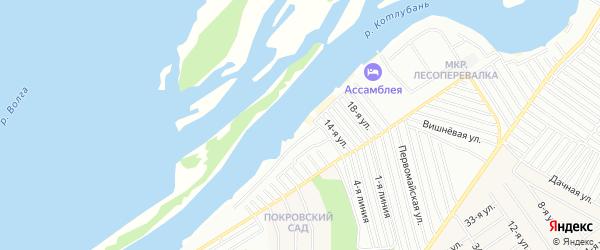 Зона База отдыха Островок на карте Энгельса с номерами домов
