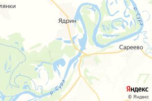 Карта г. Ядрин Чувашская Республика