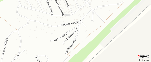 1-й Проселочный проезд на карте Энгельса с номерами домов