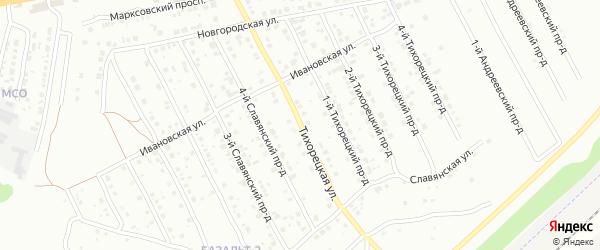 Тихорецкая улица на карте Энгельса с номерами домов