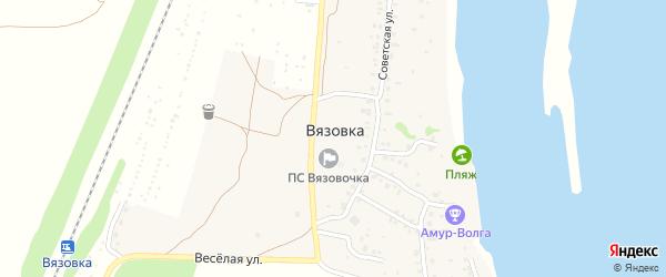 Садовый переулок на карте поселка Вязовки Саратовской области с номерами домов