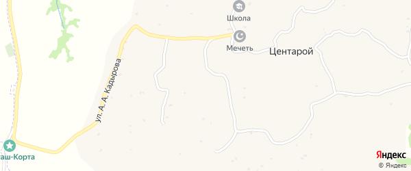 Улица К.Мусхаджиева на карте села Центарой Чечни с номерами домов
