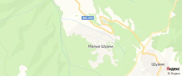 Карта села Шуани в Чечне с улицами и номерами домов