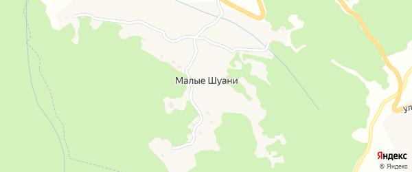 Южная улица на карте села Малых Шуани Чечни с номерами домов