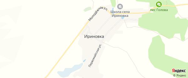 Карта села Ириновки в Саратовской области с улицами и номерами домов