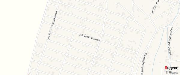 Улица Р.Ч.Даутукаева на карте села Центарой Чечни с номерами домов