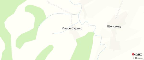 Карта деревни Малое Сирино в Вологодской области с улицами и номерами домов