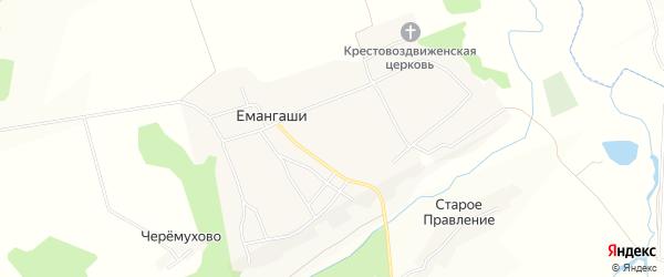 Карта села Емангаши в Марий Эл с улицами и номерами домов