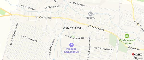 Карта села Центарой в Чечне с улицами и номерами домов