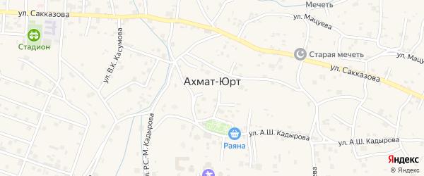 Улица В.Касумова на карте села Центарой Чечни с номерами домов