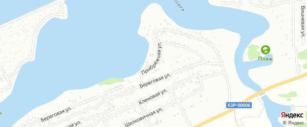 Прибрежная улица на карте Энгельса с номерами домов
